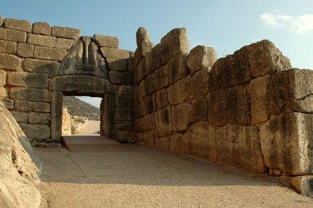 Die Lions Gate von Mykene (Griechenland)