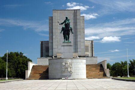 cz: National Memorial - Jan Zizka statue in Prague (Czech Republic)