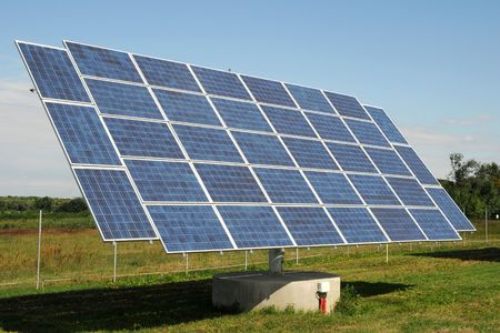 Solar panels - tracking system Stock Photo - 3479135