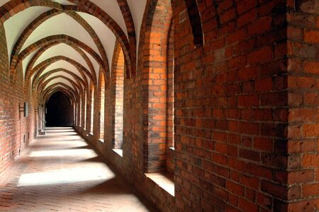 cloister: Arched cloister in a monastery (Denmark)