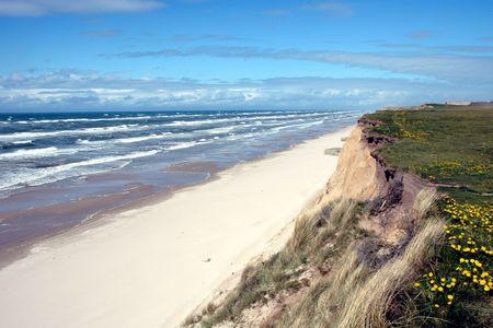 Dramatic braking waves at the West-coast of Jutland (Denmark)