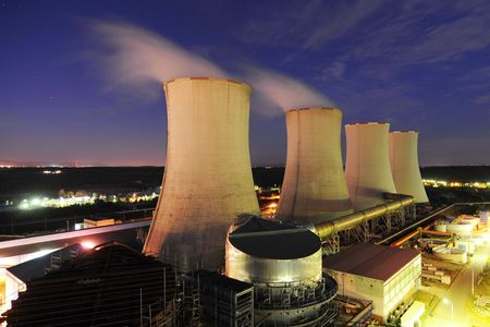 nuclear energy: Cooling towers of a power plant Editorial
