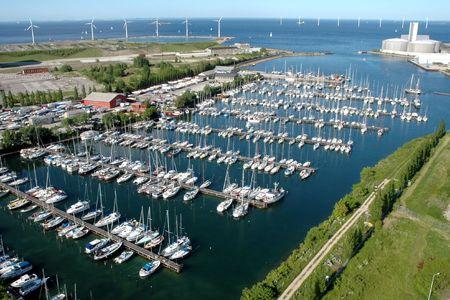 Marina in Copenhagen-Margreteholm - an aerial view (Denmark)