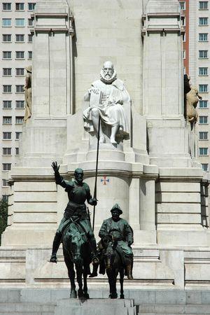 Spanien-Platz in Madrid - Don Quijote und Sancho Pansa (Spanien)