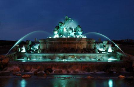 Gefion Fountain in Copenhagen (Denmark)