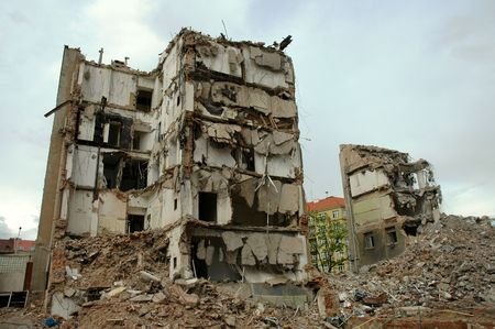Demolition of buildings Stock Photo