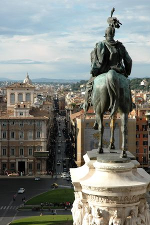 The Victor Emmanuel Monument in Rome (Italy)
