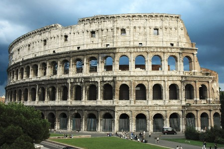 Colosseum (Flavian Amphitheater) in Rom (Italien) Lizenzfreie Bilder