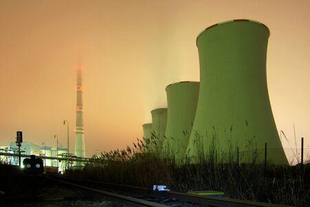 Ein Kraftwerk - Nacht Nebel erschossen