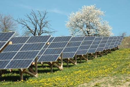 abastecimiento: planta de energ�a solar Foto de archivo