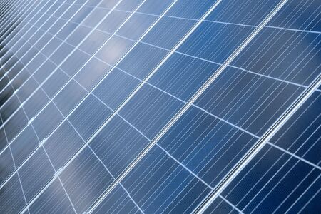 Photovoltaic cells in a solar panel - perspective view Stock Photo - 4777846