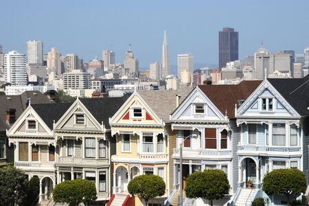 Alamos Square - The Painted Ladies, San Francisco (USA) Stock Photo