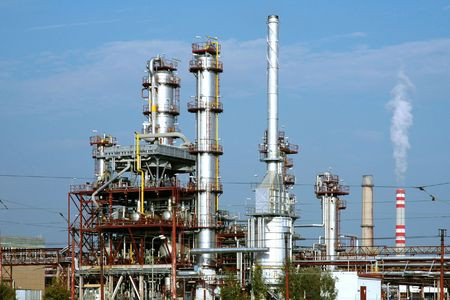 petrochemical plant: A refinery plant