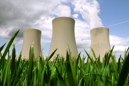 global cooling: Nuclear power plant in Temelin (Czech Republic)    Stock Photo