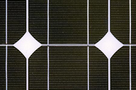 monocrystalline: Photovoltaic cell in a solar panel  Stock Photo