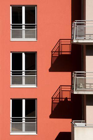 Eine Fassade des Wohnhauses Lizenzfreie Bilder