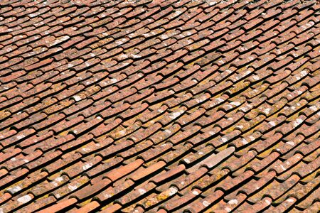 Old roof tile texture photo