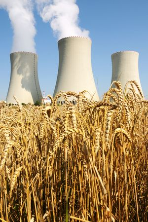 catalytic: Nuclear power plant in Temelin (Czech Republic)    Stock Photo