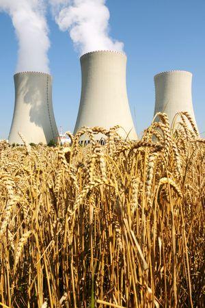 Nuclear power plant in Temelin (Czech Republic)    Stock Photo