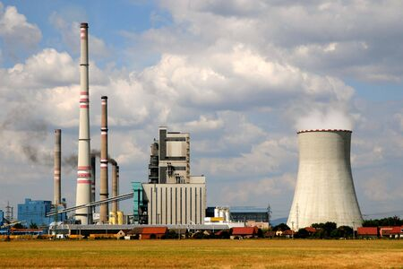 Thermal power plant Melnik in Horni Pocaply (Czech Republic)    photo
