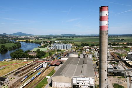 A factory with high chimney