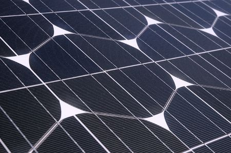 Photovoltaic cells in a solar panel - perspective view photo