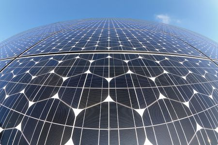 monocrystalline: Photovoltaic cells in a solar panel