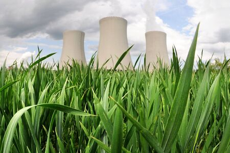 temelin: Nuclear power plant in Temelin (Czech Republic)    Stock Photo