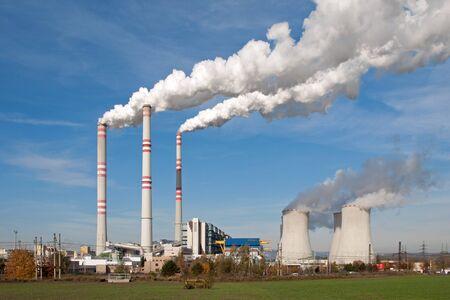 Power plant in Pocerady (Czech Republic) Stock Photo