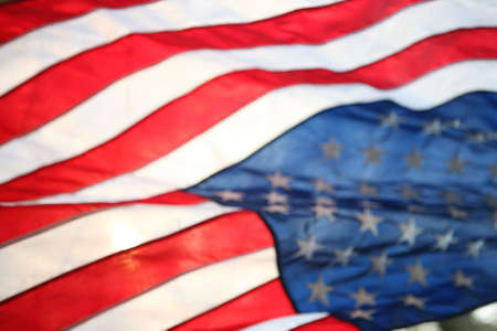 A close up shot of The United States of America flag backlit. Stock Photo - 4787212