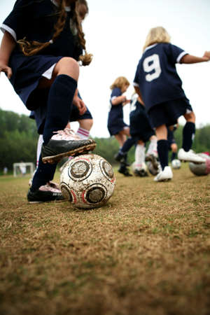 Girls soccer or football drills