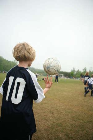 Girl soccer ball or football trick