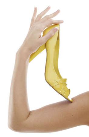 Yellow high heel Stock Photo
