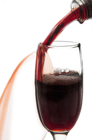 thirsting:   Wine pourning into glass