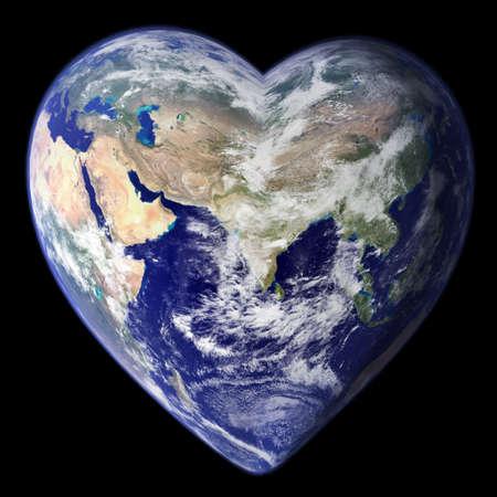 amor al planeta: Coraz�n de la tierra  Foto de archivo