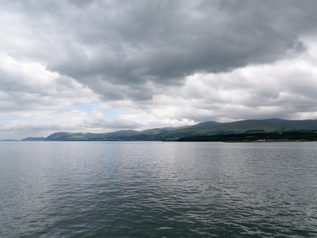 garth: over cast cloudy day over the menai strait bangor north wales