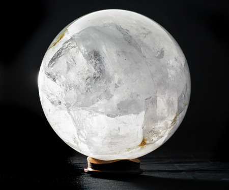 scrying: Quartz Sphere mineral spherical