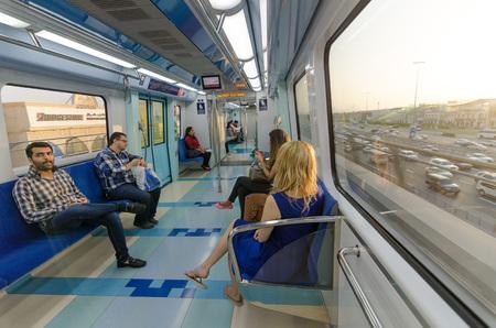 sheik: dubai metro and races sheik zayed road traffic in dubai