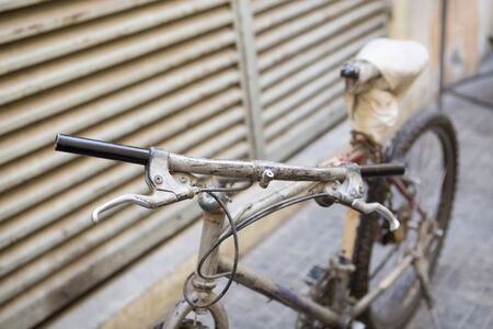 tatty: deira old workers bicycle macro shot