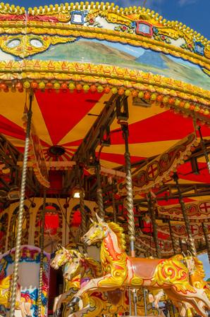 fairground: colourful carousel at a Fairground