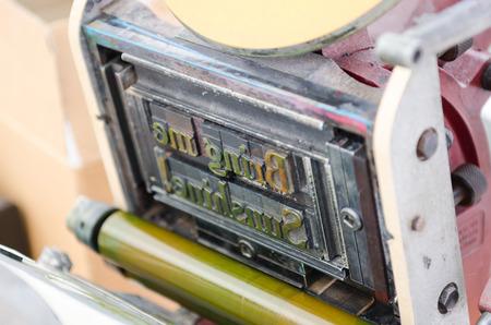 typeset: typeset block printing machine