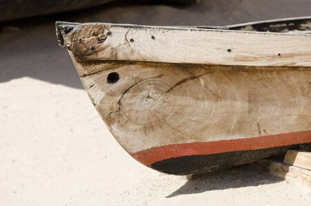 bur dubai: old antique traditional emirati wooden fishing boat, bur dubai united arab emirates