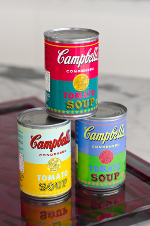 tins: campbells condensed tomato soup tins