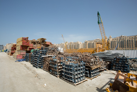 viceroy: Viceroy Hotel development building site on the Palm, Dubai