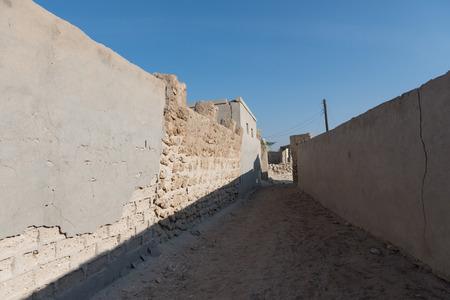 al: Coral Alleyway, Old Ras Al Khaimah abandoned ghost town, Al Jazirah Al Hamra
