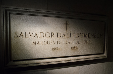 salvador dali: Figueres, Spain - 04112014, Salvador Dali the famous artist and painters tomb in Figueres Spain. Editorial