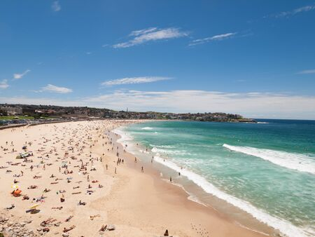 downunder: Sydney Bondi Beach, Australia, 03112013, Bondi beach on a perfect sunny day.