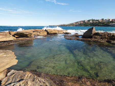 giles: Coogee, Sydney Australia, 06102015, Coogee Beach, Giles Baths swimming pool Stock Photo