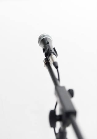 the depth: Microphone on a stand with shallow depth of field
