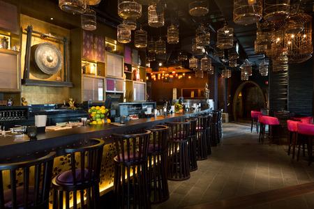ten best: United Arab Emirates, Dubai, 07142014, Asia Asia, japanese eastern fusion restaurant interior, pier 7, Dubai Marina Editorial